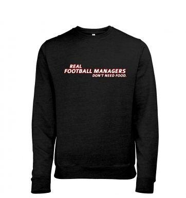 Football Managers Need No Food heather sweatshirt