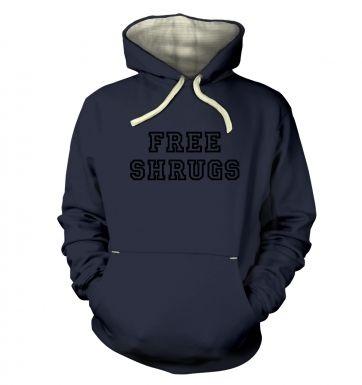 Free Shrugs hoodie (premium)