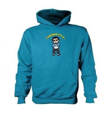 Gangnam Style   kids hoodie (contrast)