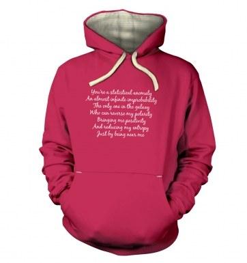Geeky Love Poem hoodie (premium)