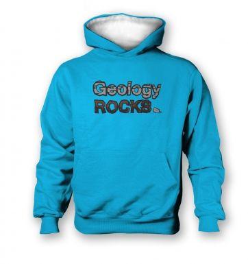 Geology Rocks   kids hoodie (contrast)