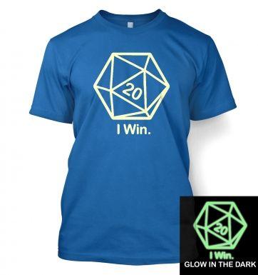 D20 I Win (glow in the dark) t-shirt