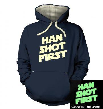Han Shot First (glow in the dark) hoodie (premium)