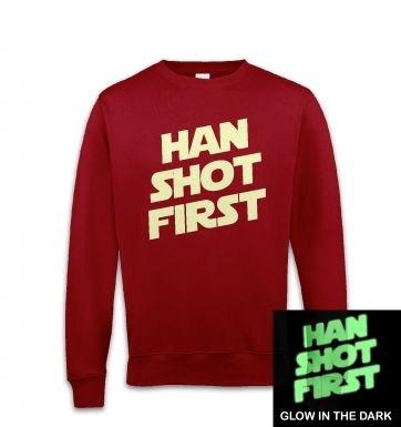 Han Shot First (glow in the dark) sweatshirt