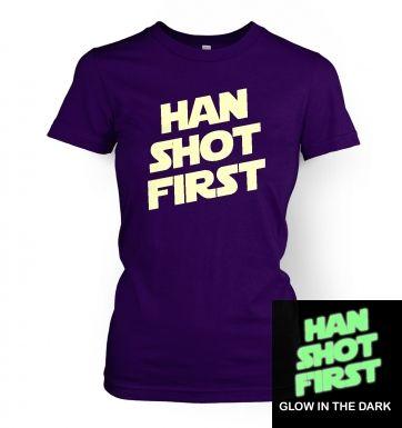 Han Shot First (glow in the dark) women\'s t-shirt