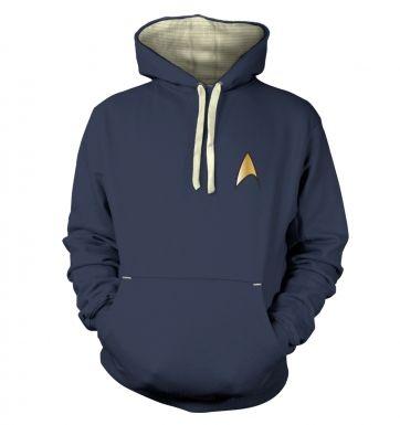 Gold Starfleet Badge  hoodie (premium)
