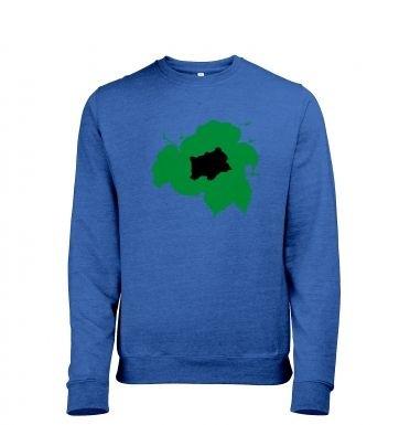 Green Bulbasaur Silhouette heather sweatshirt