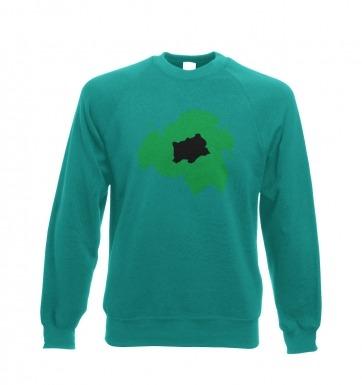 Green Bulbasaur Silhouette sweatshirt