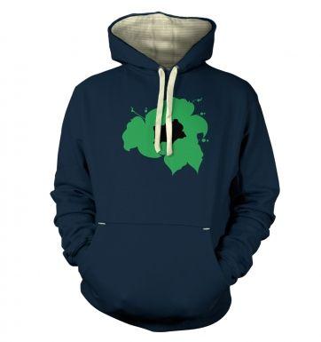 Green Bulbasaur Silhouette hoodie (premium)