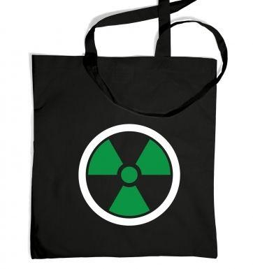 Green Radiation Symbol tote bag