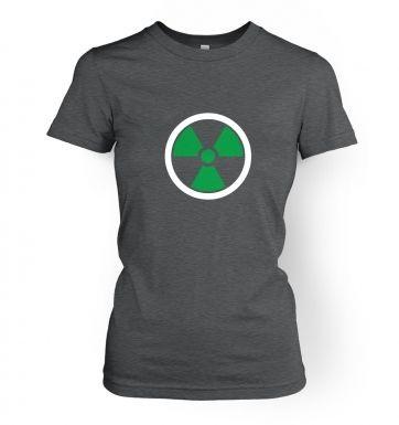 Green Radiation Symbol women's t-shirt