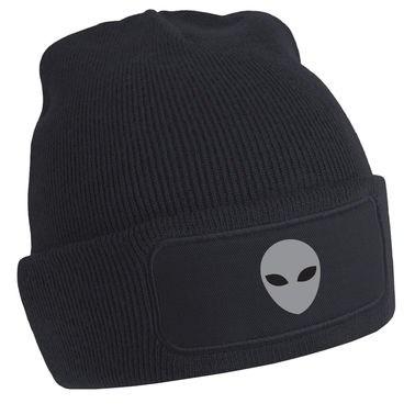 Grey Alien Head beanie hat