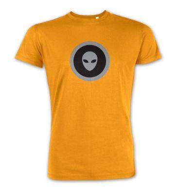 Grey Alien Head Circle Black Fill premium t-shirt