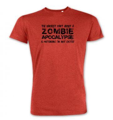 Hardest Part About A Zombie Apocalypse  premium t-shirt