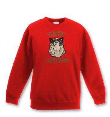 Hate Everything kids' sweatshirt