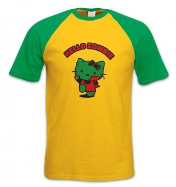 Hello Zombie short-sleeved baseball t-shirt