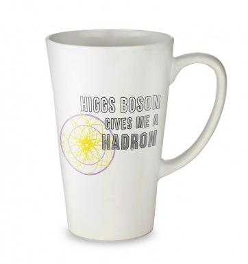 Higgs Boson Hadron tall latte mug