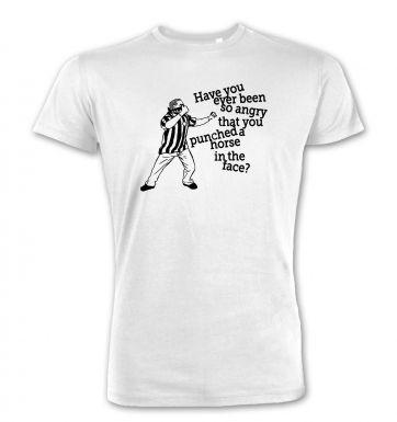 Geordie Horse Punch Guy (black detail)  premium t-shirt