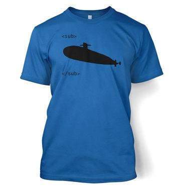 HTML Sub Tags t-shirt