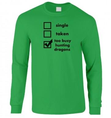 Hunting Dragons: Relationship Status long-sleeved t-shirt