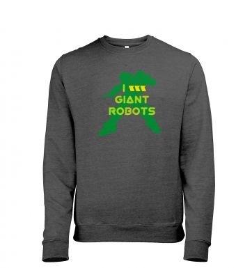 I <3 Giant Robots heather sweatshirt