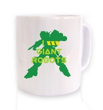 I <3 Giant Robots mug