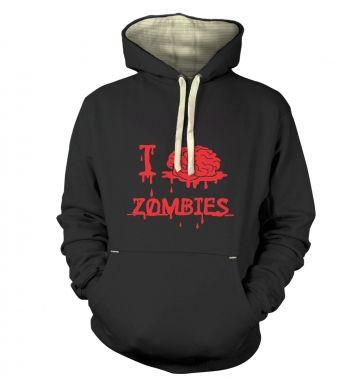 I brain Zombies  hoodie (premium)