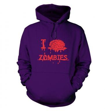 I brain zombies hoodie