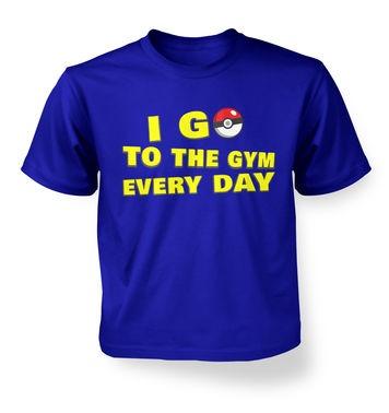 I Go To The Gym kids t-shirt