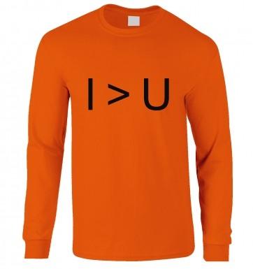 I > U  long-sleeved t-shirt