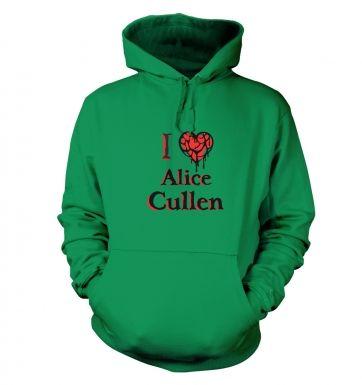 I heart Alice Cullen hoodie