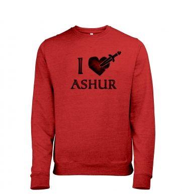 I Heart Ashur heather sweatshirt