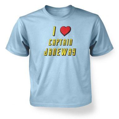 I heart Captain Janeway kids' t-shirt