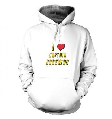 I heart Captain Janeway hoodie