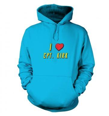 I heart Captain Kirk hoodie