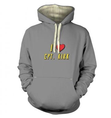 I heart Captain Kirk  hoodie (premium)