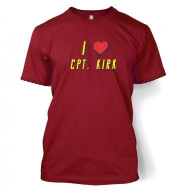 I heart Captain Kirk t-shirt