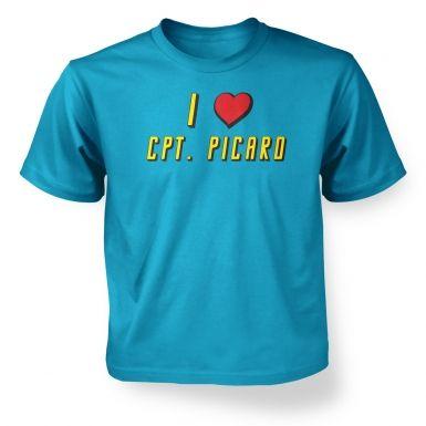 I heart Captain Picard kids' t-shirt