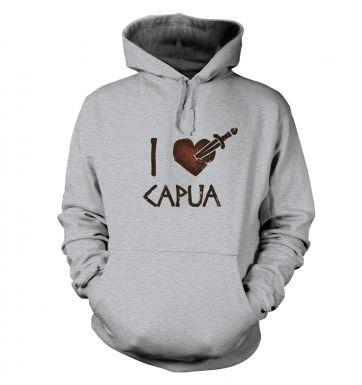 i heart capua  hoodie