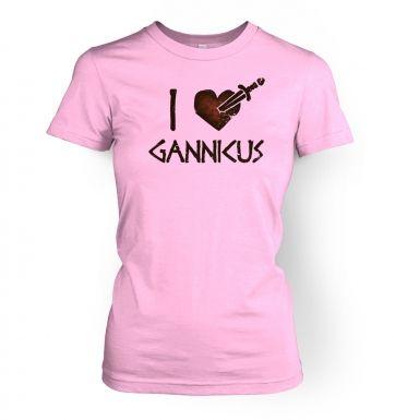 I heart Gannicus  womens t-shirt