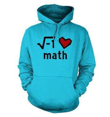 I Heart Math hoodie