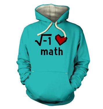 I Heart Math hoodie (premium)