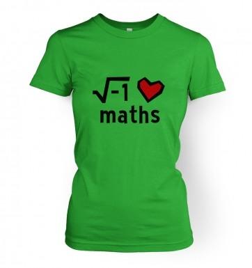 i Heart Maths women's t-shirt