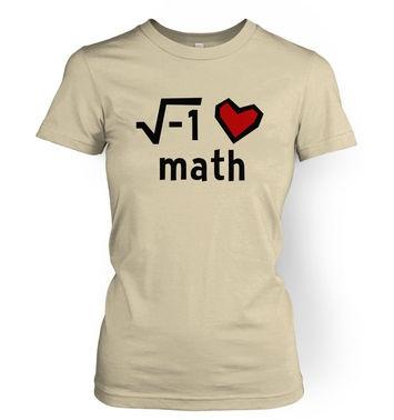 I Heart Math women's t-shirt