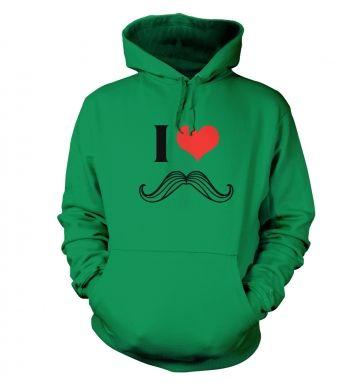 I heart moustache hoodie