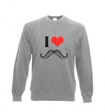 I heart moustache sweatshirt