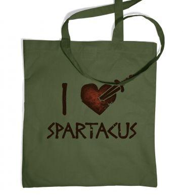 I heart Spartacus  tote bag