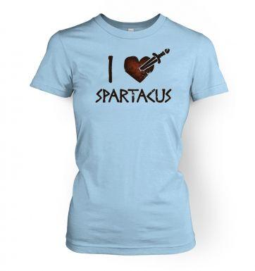 I heart Spartacus  womens t-shirt
