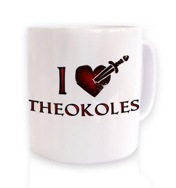 I heart Theokoles mug