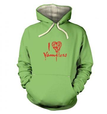 I Heart Vampires  hoodie (premium)